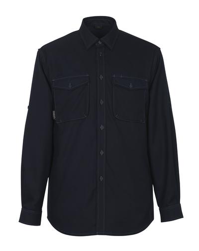 MASCOT® Hampton - mörk marin - Skjorta, modern passform