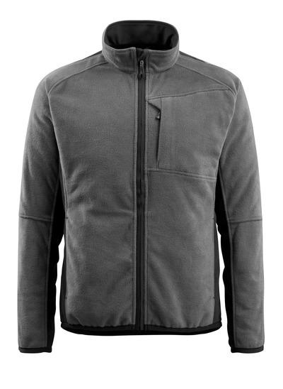 MASCOT® Hannover - mörk antracit/svart - Fleecejacka, förlängd rygg