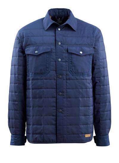 MASCOT® Hoboken - marin - Skjorta med foder och tryckknappar