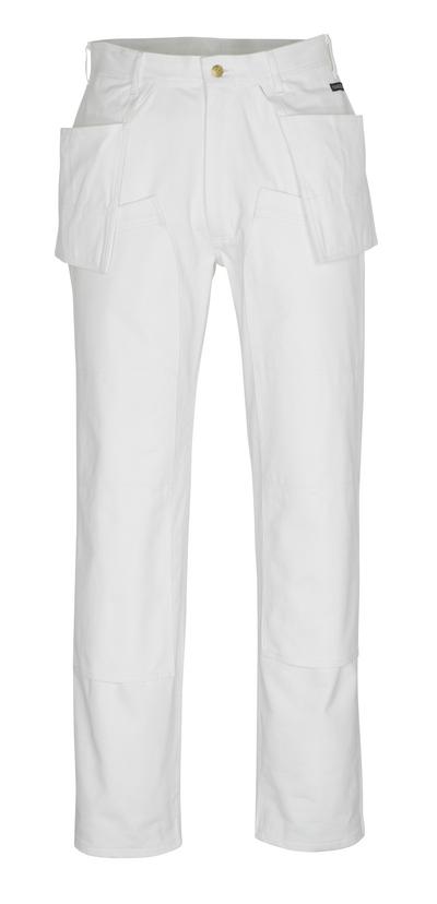 MASCOT® Jackson - vit* - Byxor med knä- och hängfickor