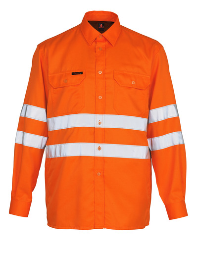 MASCOT® Jona - hi-vis orange - Skjorta, klassisk passform, klass 3