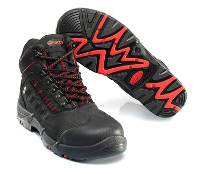 MASCOT® Kenya - svart/röd - Skyddskängor S3 med snörning