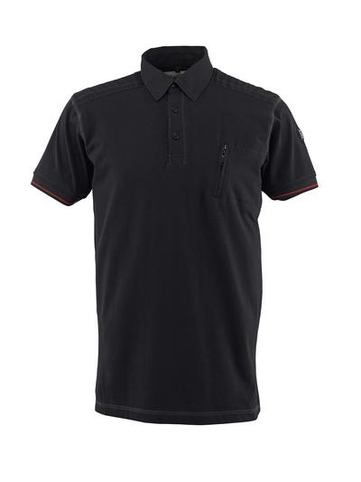 MASCOT® Kreta - svart - Pikétröja, modern passform, bröstficka