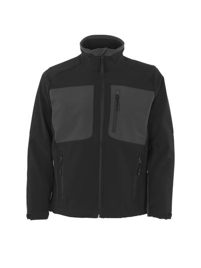 MASCOT® Lagos - svart/mörk antracit - Softshelljacka med fleece på insidan, vattenavvisande