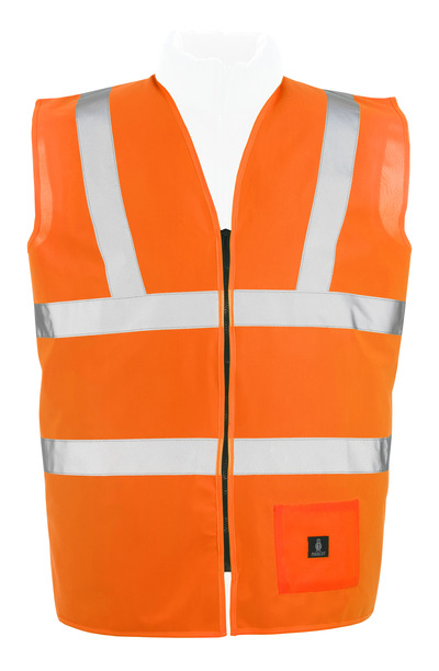 MASCOT® Lakewood - hi-vis orange* - Trafikväst med blixtlås, klass 2