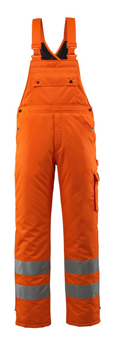 MASCOT® Lech - hi-vis orange - Vintersnickarbyxor med kviltfoder, vattentätt MASCOTEX®, klass 2