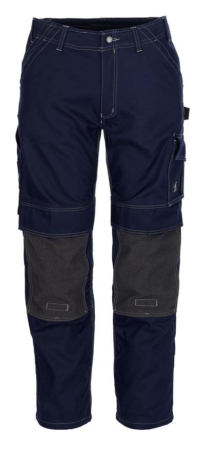 MASCOT® Lerida - marin - Byxor med Kevlar®-knäfickor, hög slitstyrka