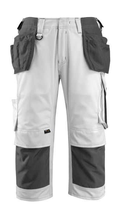 MASCOT® Lindau - vit/mörk antracit - Knickers med CORDURA®-knä- och hängfickor, hög slitstyrka