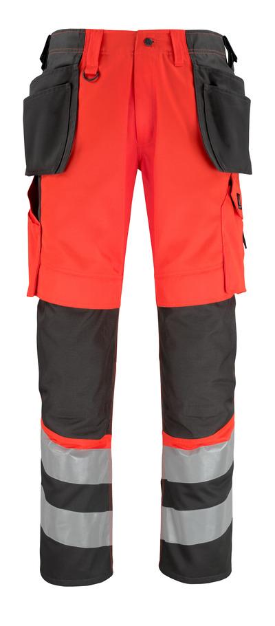 MASCOT® Lixa - hi-vis röd/mörk antracit* - Byxor med knä- och hängfickor