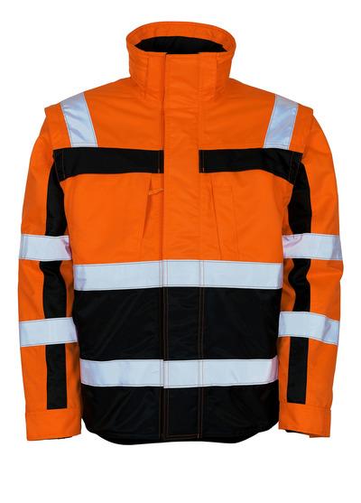 MASCOT® Loreto - hi-vis orange/marin - Vinterjacka med avtagbar termojacka, vattenavvisande, klass 3