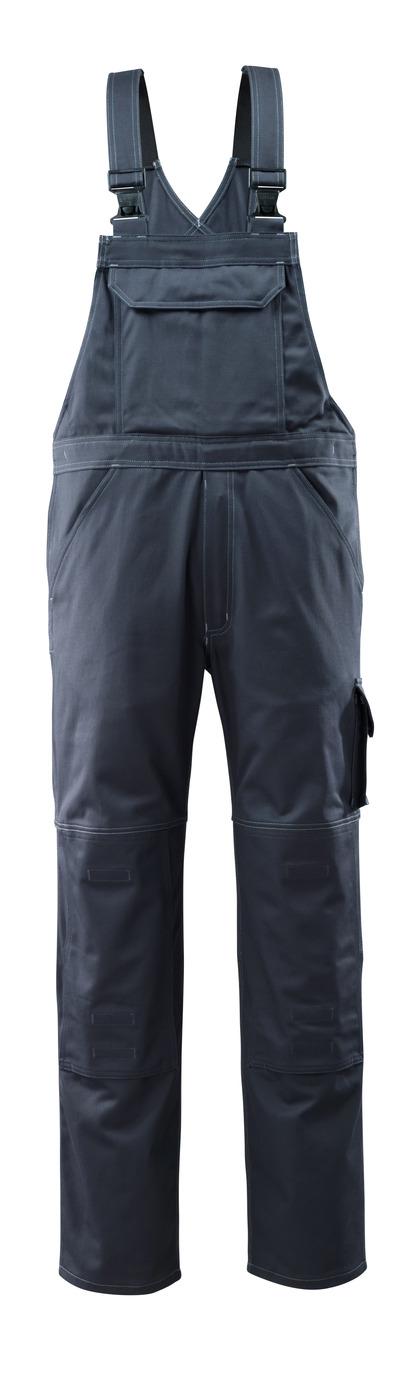 MASCOT® Lowell - mörk marin - Snickarbyxor med knäfickor, bomull