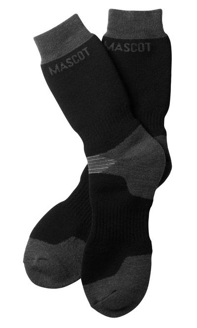 MASCOT® Lubango - svart/mörk antracit - Sockor, extra lång, fukttransporterande