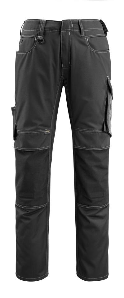 MASCOT® Mannheim - svart/mörk antracit - Byxor med CORDURA®-knäfickor, låg vikt