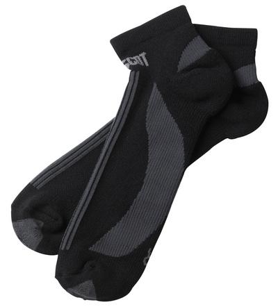 MASCOT® Maseru - svart/mörk antracit - Sockor, kort modell, fukttransporterande