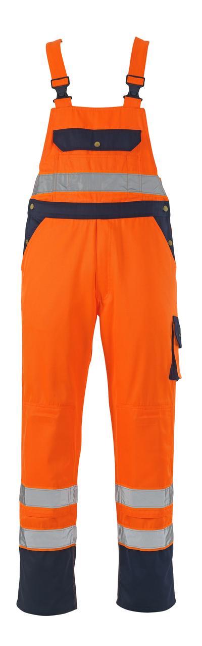 MASCOT® Milano - hi-vis orange/marin* - Snickarbyxor med knäfickor, klass 2/2