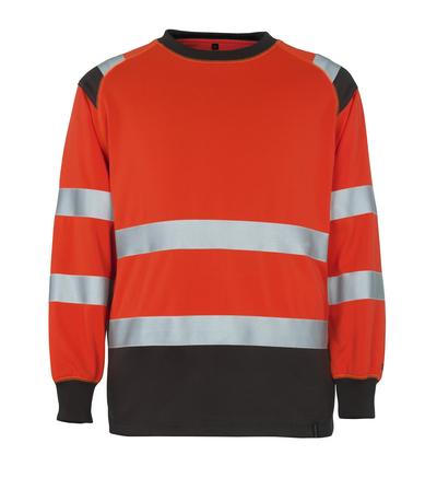 MASCOT® Montijo - hi-vis röd/mörk antracit* - Sweatshirt, klassisk passform, klass 2