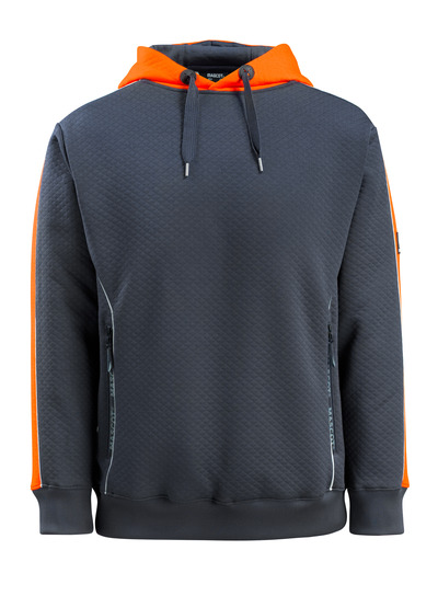 MASCOT® Motril - mörk marin/hi-vis orange - Huvtröja med hi-viskontrast, våfflad yttersida, modern passform