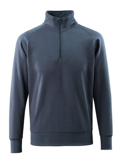MASCOT® Nantes - mörk marin - Sweatshirt med kort blixtlås, modern passform