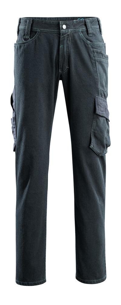 MASCOT® Navia - mörk blå denim - Jeans med lårfickor, extra hög slitstyrka