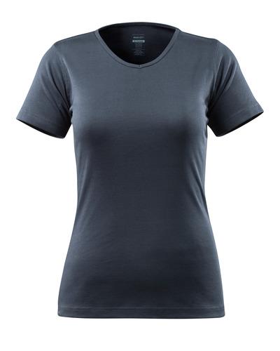 MASCOT® Nice - mörk marin - T-shirt, dammodell, V-hals