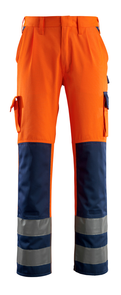 MASCOT® Olinda - hi-vis orange/marin - Byxor med knäfickor, klass 2