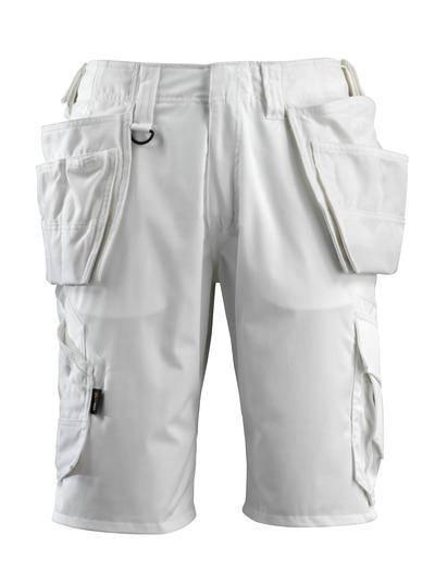 MASCOT® Olot - vit - Shorts med CORDURA®-hängfickor och stretchpaneler