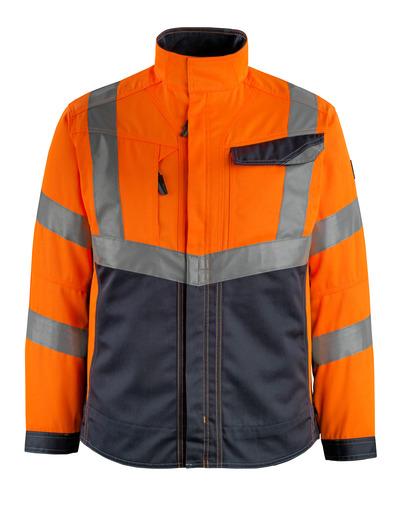 MASCOT® Oxford - hi-vis orange/mörk marin - Jacka, hög slitstyrka, klass 2