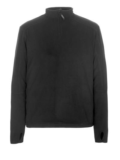 MASCOT® Pau - svart* - Fleecetröja med kort blixtlås
