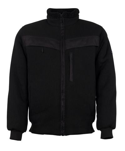 MASCOT® Pinto - svart - Stickad jacka med förstärkningar