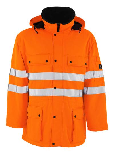 MASCOT® Quebec - hi-vis orange - Parkas med kviltfoder, vattenavvisande, klass 3/2