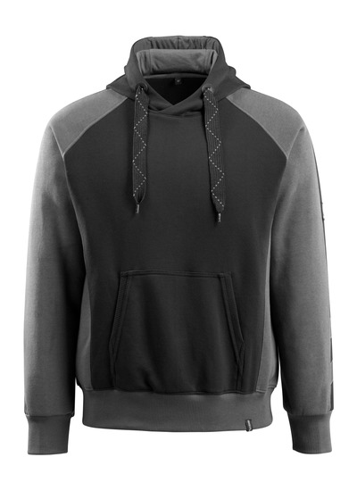 MASCOT® Regensburg - svart/mörk antracit - Huvtröja, modern passform