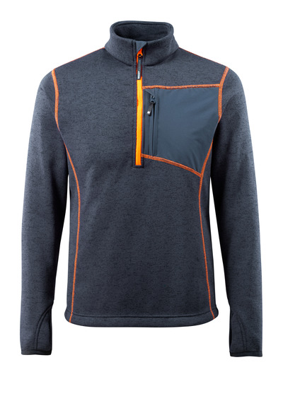 MASCOT® Reims - mörk marin - Stickad tröja med kort blixtlås