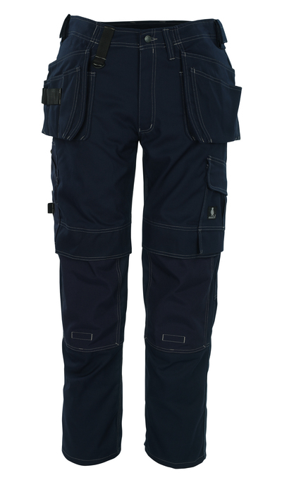 MASCOT® Ronda - marin - Byxor med CORDURA®-knäfickor och hängfickor, hög slitstyrka