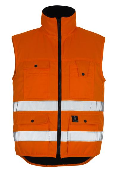 MASCOT® Sölden - hi-vis orange - Vinterväst med fiberpälsfoder, vattenavvisande, klass 1