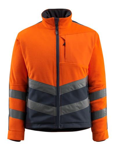 MASCOT® Sheffield - hi-vis orange/mörk marin - Fleecejacka med vadderat och vindtätt foder, vattenavvisande, klass 2