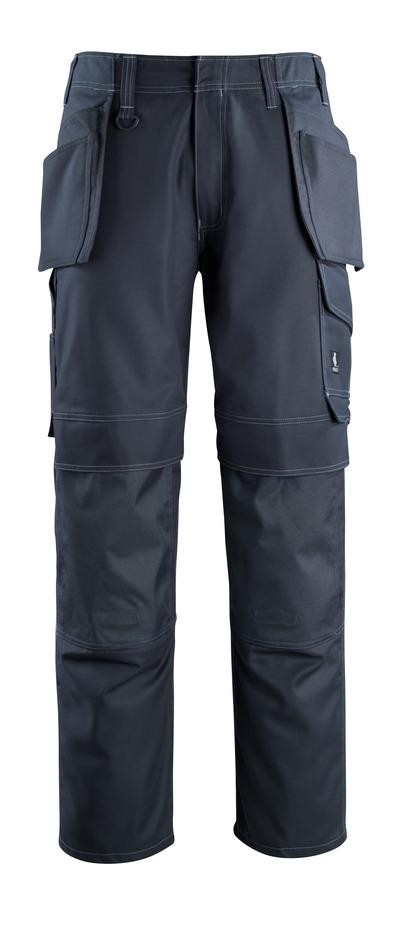 MASCOT® Springfield - mörk marin - Byxor med knä- och hängfickor, låg vikt