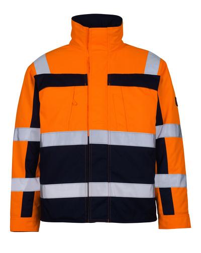MASCOT® Timon - hi-vis orange/marin* - Pilotjacka med kviltfoder, klass 3