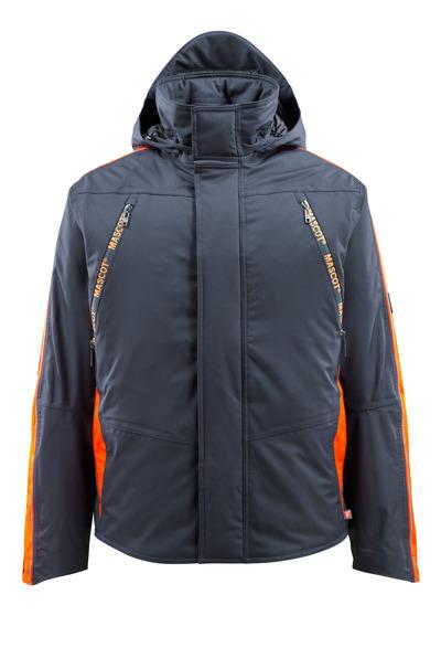 MASCOT® Tolosa - mörk marin/hi-vis orange - Vinterjacka med hi-viskontrast, vattentätt, hög isoleringsförmåga