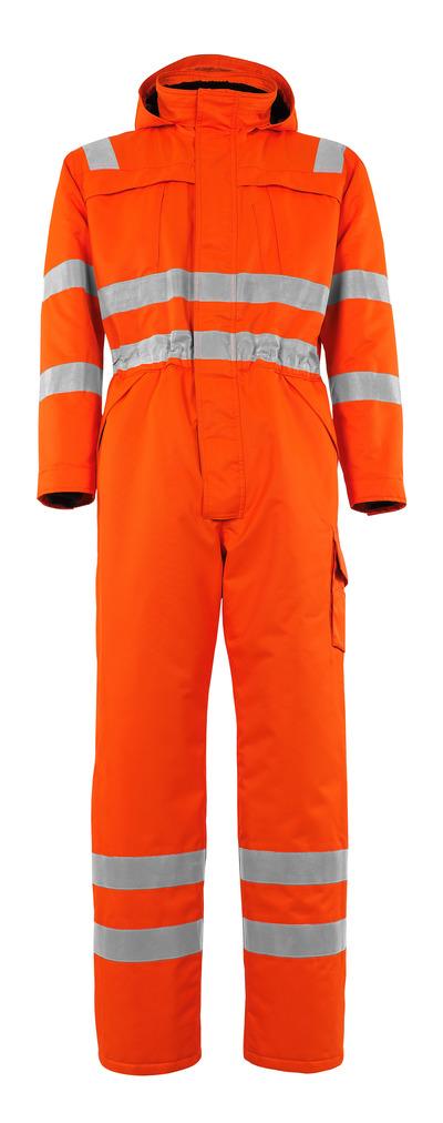 MASCOT® Tombos - hi-vis orange - Vinteroverall med fiberpälsfoder, vattentätt MASCOTEX®, klass 4