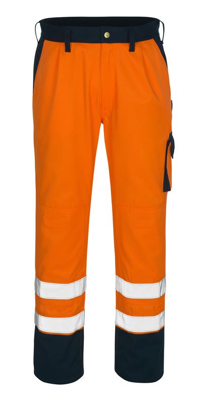 MASCOT® Torino - hi-vis orange/marin* - Byxor med knäfickor, klass 1/2