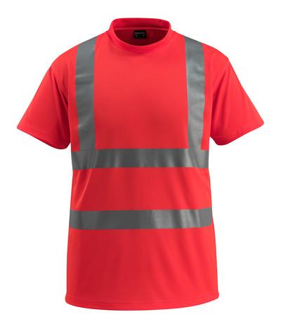 MASCOT® Townsville - hi-vis röd - T-shirt, klassisk passform, klass 2