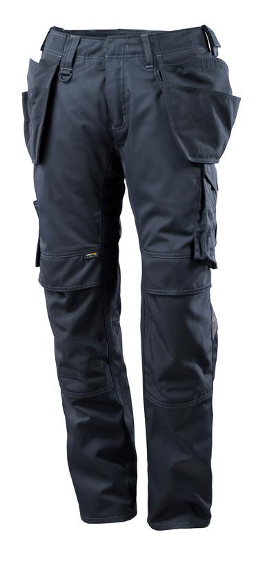 MASCOT® UNIQUE - mörk marin - Byxor med CORDURA®-knä- och hängfickor, låg vikt
