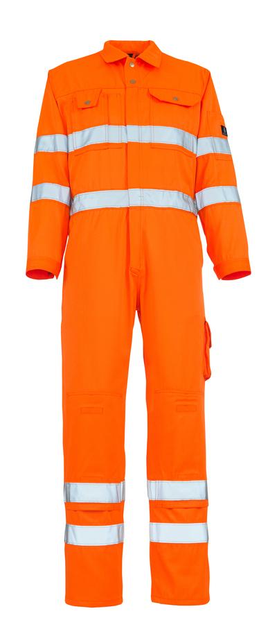 MASCOT® Utah - hi-vis orange - Overall med knäfickor, klass 3