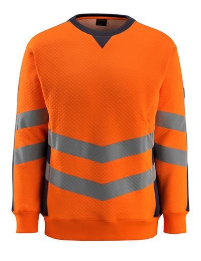 MASCOT® Wigton - hi-vis orange/mörk marin - Sweatshirt, modern passform, klass 3