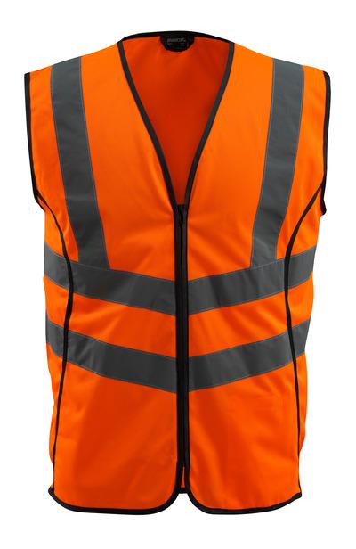 MASCOT® Wingate - hi-vis orange - Trafikväst med blixtlås, klass 2