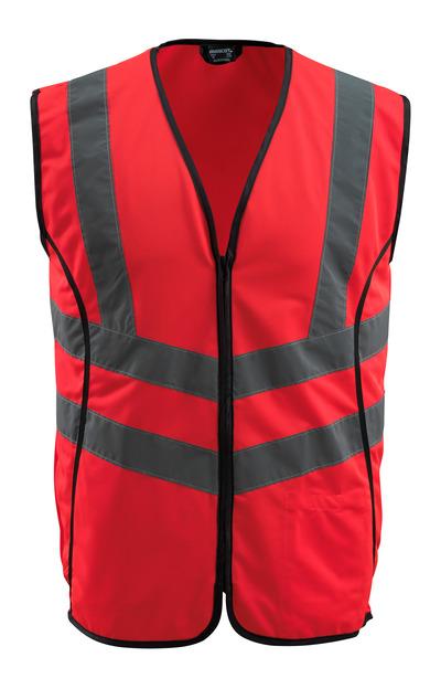MASCOT® Wingate - hi-vis röd - Trafikväst med blixtlås, klass 2