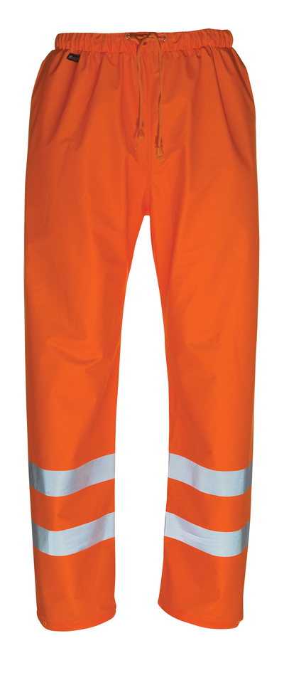 MASCOT® Wolfsberg - hi-vis orange - Regnbyxor, vindtät och vattentät, klass 1