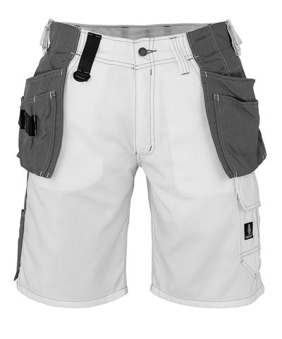 MASCOT® Zafra - vit - Shorts med CORDURA®-hängfickor, låg vikt